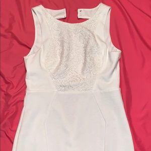 Classy Mini White Dress• (brand new)